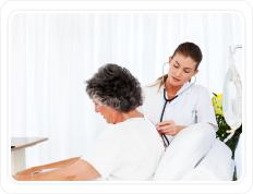 a doctor and a caregiver